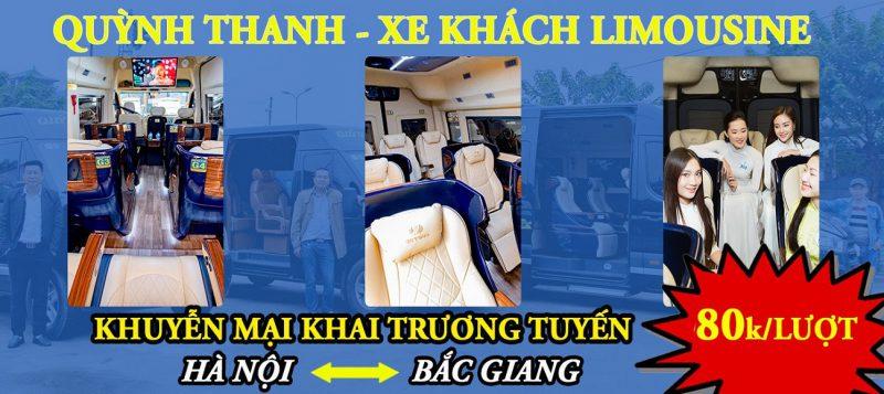 Quỳnh Thanh Limousine khai trương tuyến Hà Nội - Bắc Giang